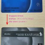 シンガポール航空エリートシルバーカードにランクアップしました。 | elite silver SINGAPORE AIRLINES