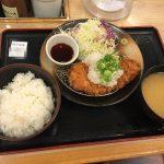 松乃家(まつのや)のおろしロース定食(並)を食べました。